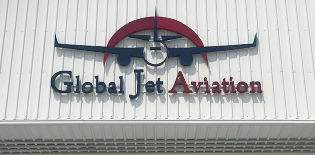 Cartel de Global Jet