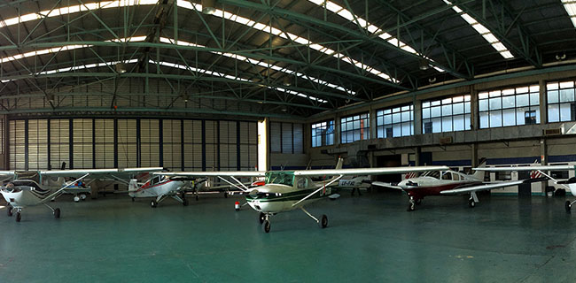 Hangar de Global Jet, vista interior 1