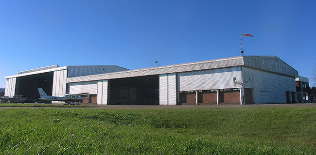 Hangar de Global Jet, vista exterior
