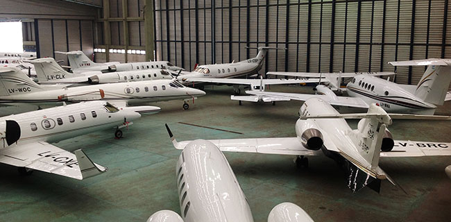 Hangar de Global Jet, vista interior 2
